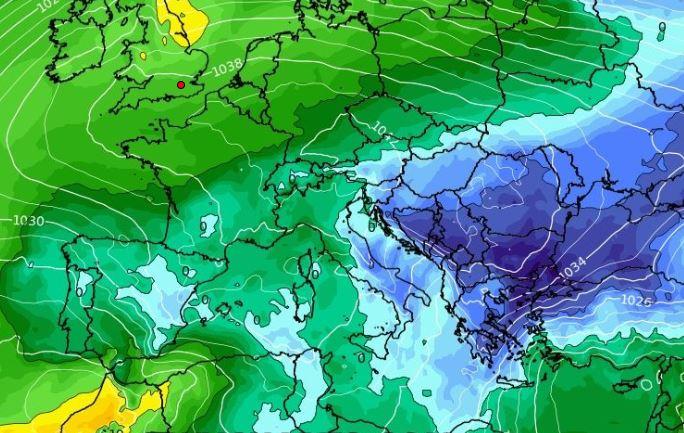 Καιρός: Διατηρείται σταθερά η τάση για ψυχρή εισβολή από τις 20 Φλεβάρη. Καρέ καρέ η εξέλιξη (video)