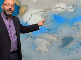 Καιρός: Βροχές και καταιγίδες τη Δευτέρα… Η ανάλυση Αρναούτογλου μέχρι την Πέμπτη (vid)