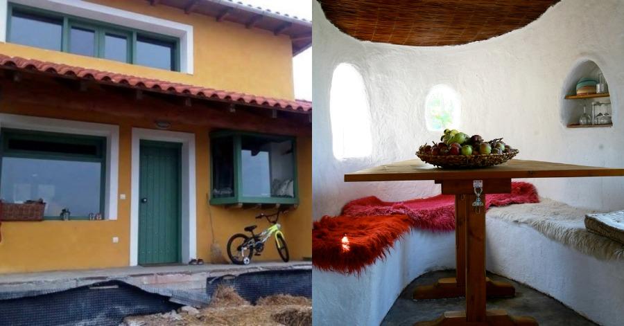 Δύο νέοι Λαρισαίοι άφησαν τη δουλειά τους και φτιάχνουν υπέροχα σπίτια από 1,500€ και μόνο με φυσικά υλικά