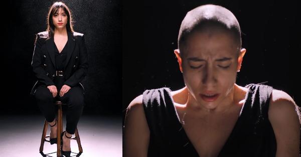 Ξύρισε το κεφάλι της on camera η Κωνσταντάκη για τις γυναίκες με καρκίνο μαστού