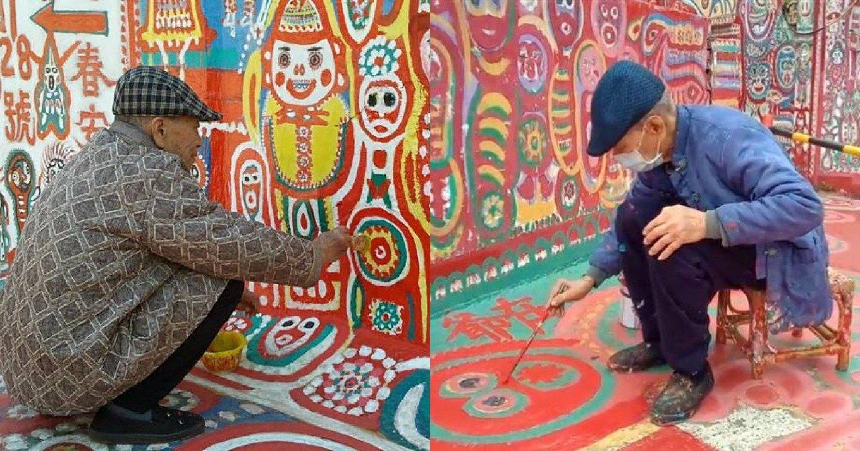 Ο 99χρονος αφανής ήρωας που για μια δεκαετία ζωγράφιζε το χωριό του για να το σώσει από την κατεδάφιση
