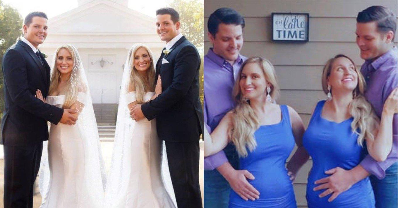 Δίδυμες παντρεύτηκαν την ίδια μέρα δίδυμα αδέρφια, συγκατοικούν όλοι μαζί κι έμειναν έγκυες ταυτόχρονα