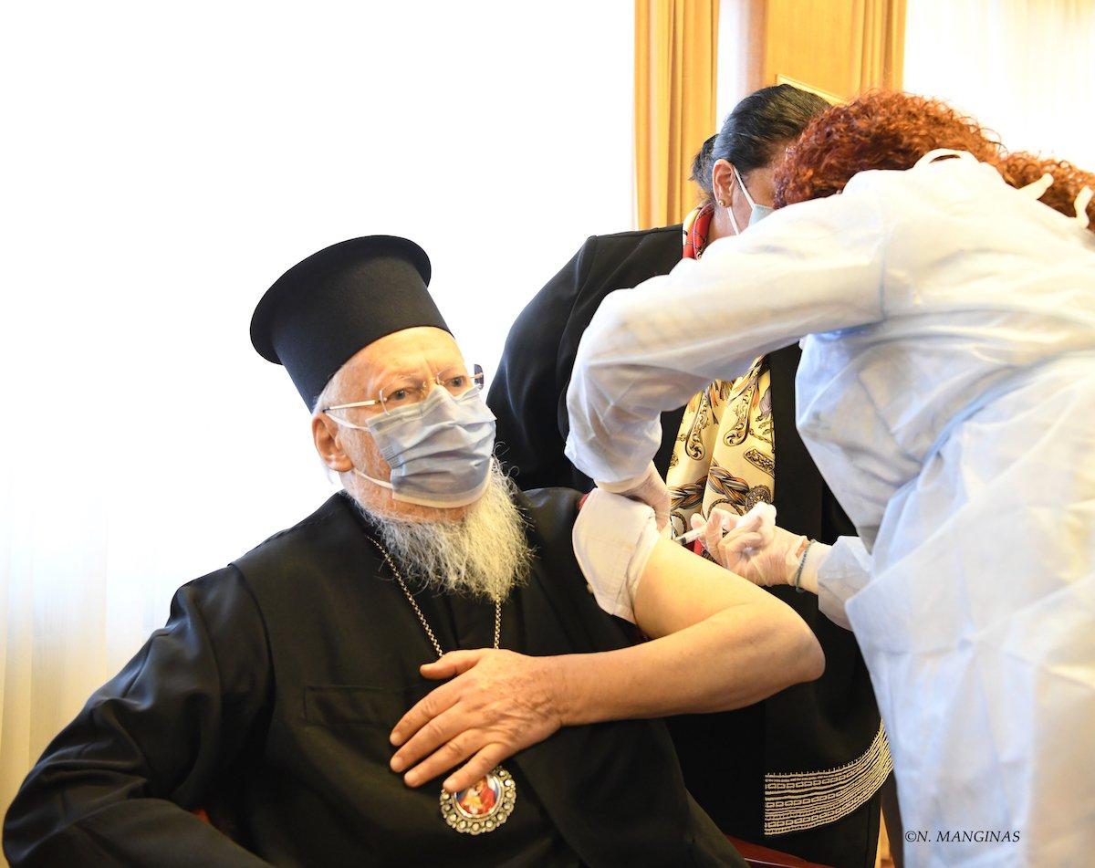 Ο Πατριάρχης Βαρθολομαίος έκανε και την 2η δόση του εμβολίου κατά του κορωνοϊού