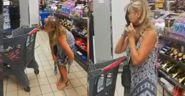 Γυναίκα έβγαλε το εσώρουχό της σε σούπερ μάρκετ και το έκανε μάσκα
