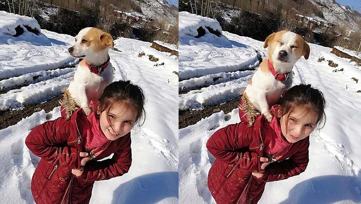 8χρονη περπάτησε 2,5 χιλιόμετρα στο χιόνι κουβαλώντας το σκύλο της για να τον πάει στον κτηνίατρο.