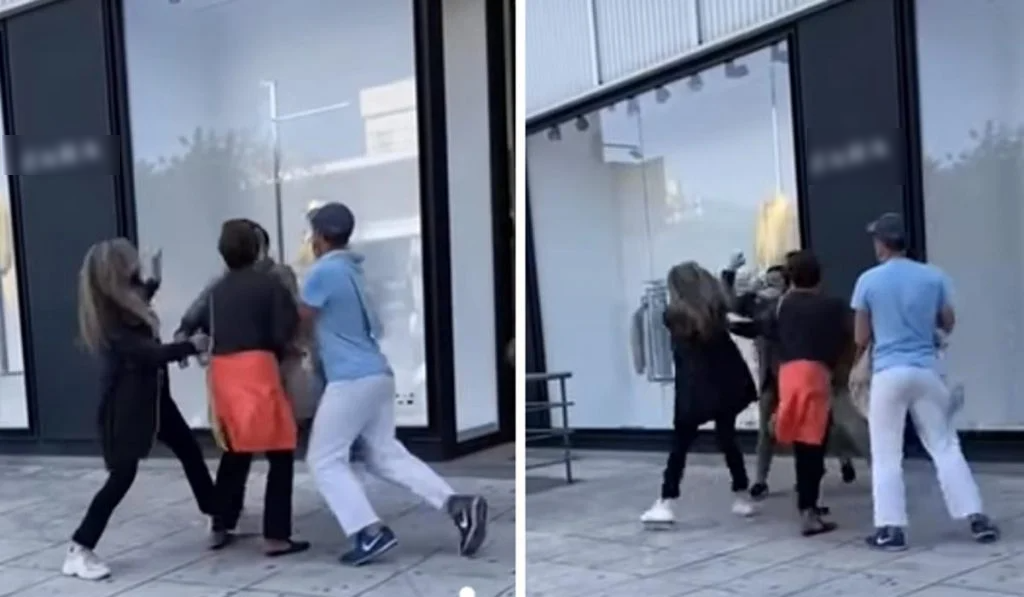 Πιάστηκαν μαλλί με μαλλί έξω από κατάστημα στη Γλυφάδα! Ξύλο και βρισιές