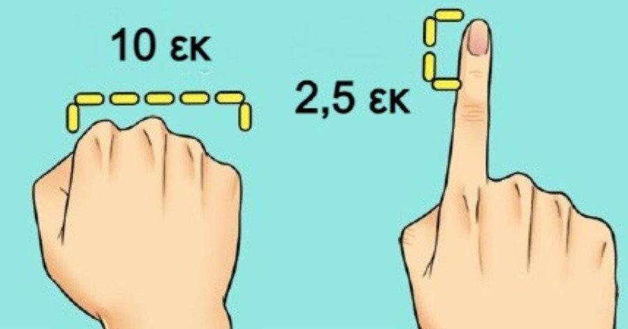 4 έξυπνοι τρόποι για να μετράτε μικρές αποστάσεις με ακρίβεια όταν δεν υπάρχει χάρακας