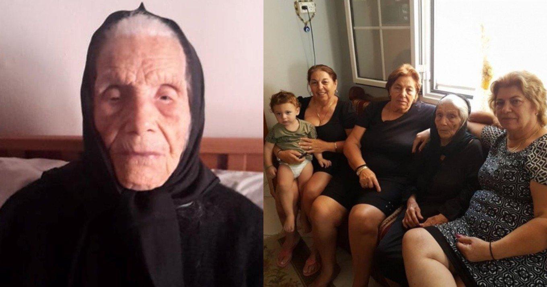 Παναγιούλα Στεφανιδάκη: Η υπεραιωνόβια γιαγιά είναι 107 ετών με 140 εγγόνια, δισέγγονα και τρισέγγονα