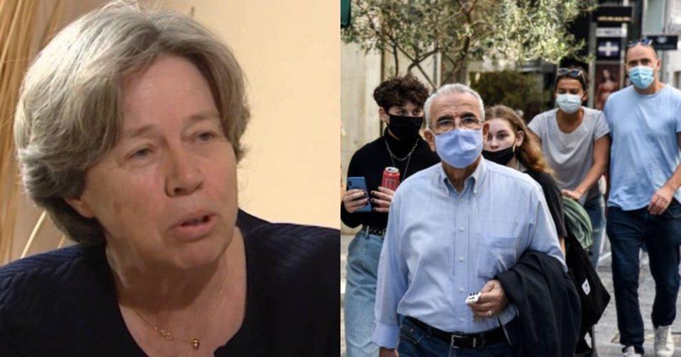 Αθηνά Λινού: Να μην βγάλουν τις μάσκες στους εξωτερικούς χώρους οι εμβολιασμένοι – Φόβοι για μεταλλάξεις και 4ο κύμα
